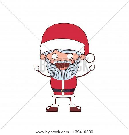 funny Christmas santa claus character isolated icon design, vector illustration graphic