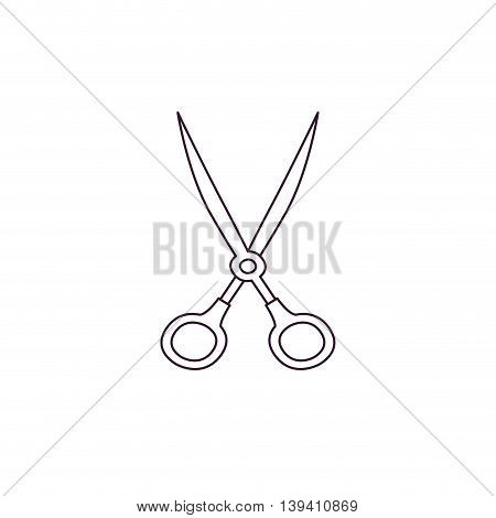 white scissors isolated icon design, vector illustration graphic