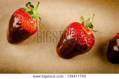 Fresh gourmet chocolate covered strawberries, for Valentine's Day
