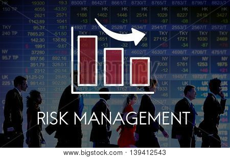 Risk Management Diagram Graph Arrow Concept