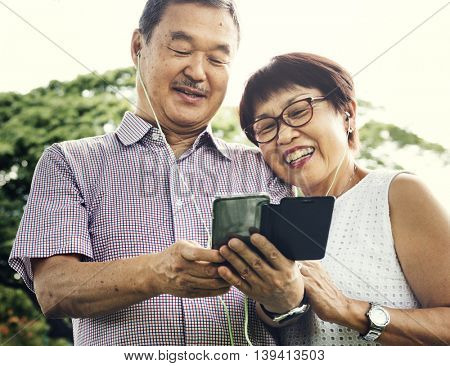 Senior Couple Togetherness Lifestyle Casual Concept