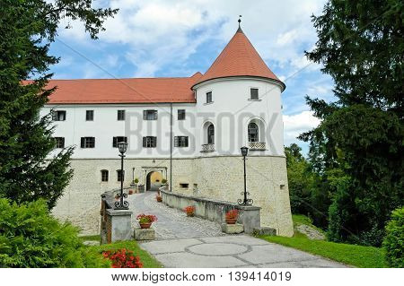 Medieval castle in Slovenia, popular tourist spot