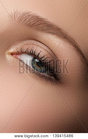 Eye Makeup. Beautiful Eyes Make-up. Holiday Makeup Detail