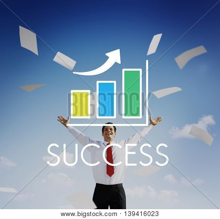 Success Increasing Bar Chart Concept