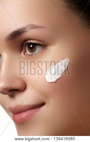 Beauty Woman Face Portrait. Spa Model Girl