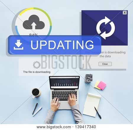 Backup Cloud Upload Sync Data Concept