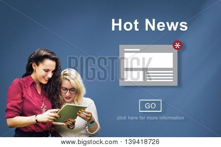 Hot News Announcement Broadcast Article Concept