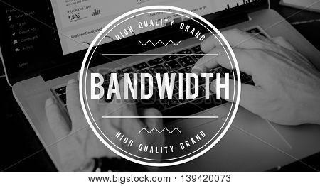 Bandwidth Technology Size Internet Online Concept