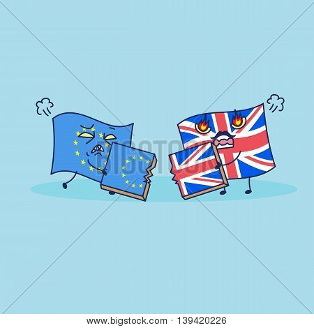 British flag is brext to EU flag