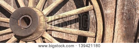 Old wagon wheel banner-Proportionate to Large Mobile Banner