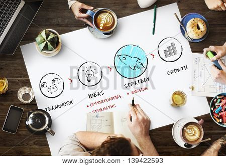 Ideas Strategy New Business Growth Start up Concept
