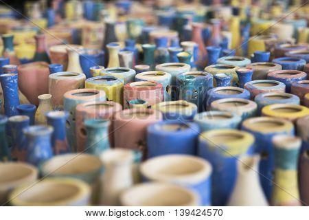 Pottery made by children at Bat Trang