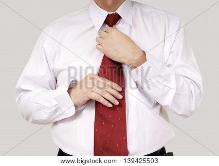 Wearing Necktie