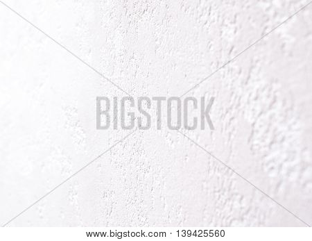 Closeup of Modern White Stucco. Indoors Shot.Shallow Depth of Field. Horizontal Image