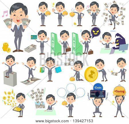 Gray Suit Businessman Money