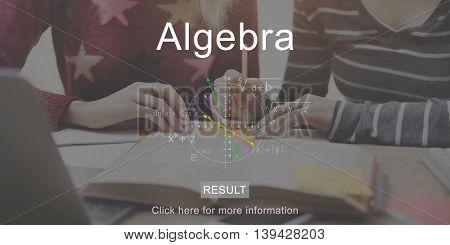 Algebra Together Brainstorming Education Concept
