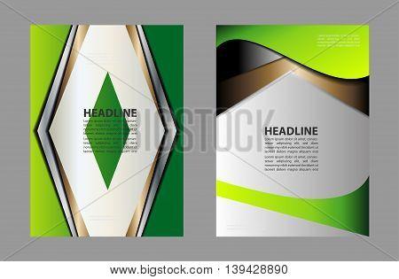 Vector Brochure Flyer design Layout template, technology design