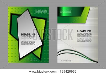 Business Front and Back Flyer Template abstract