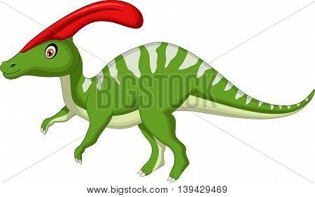 cute Dinosaur Parasaurolophus cartoon for you design