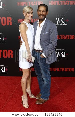 NEW YORK-JULY 11: Hilary Quinlan (L) and Bryant Gumbel attend 'The Infiltrator' New York premiere at AMC Loews Lincoln Square 13 Theater on July 11, 2016 in New York City.