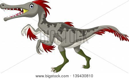 angry Dinosaur Triceratops cartoon for you design