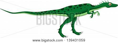 Cute dinosaur cartoon walking for you design