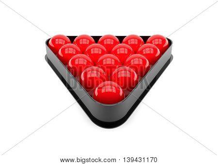 3D Illustration Snooker ball on white background.