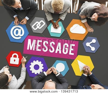 Message Email Information Meeting Concept