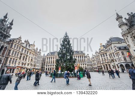 Brussels, Belgium, 3 December 2014: Brussels, officially the Brussels-Capital Region, is a region of Belgium comprising 19 municipalities, including the City of Brussels which is the de jure capital of Belgium.