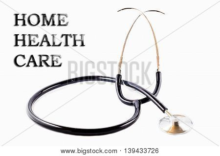 Stethoscope for doctor with words