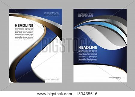 Vector Brochure Flyer design Layout template, size A4, Front page and back page