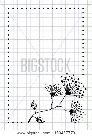 Vector Card With Flower, Graphic Illustration