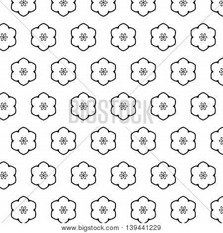 Black White Pattern With Modern Abstract Ornaments.