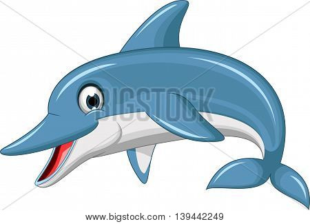cute dolphin cartoon jumping for you design