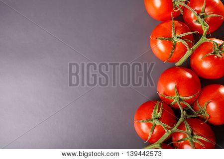 Ripe tomatoes, fresh vegetables, healthy eating, nutrition dietary product