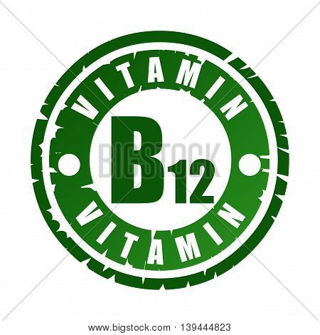 Rubber Stamp With Vitamin B12