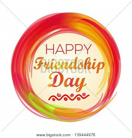 Happy Friendship Day lettering logo icon. Vector illustration
