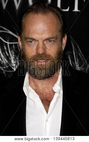 Hugo Weaving at the Los Angeles premiere of 'The Wolfman' held at the ArcLight Theater in Hollywood, USA on February 9, 2010.