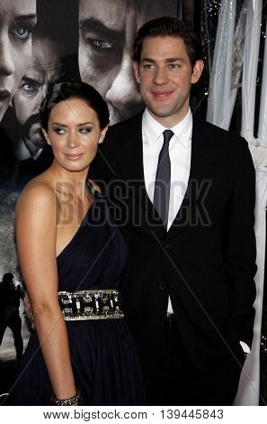 Emily Blunt and John Krasinski at the Los Angeles premiere of 'The Wolfman' held at the ArcLight Theater in Hollywood, USA on February 9, 2010.