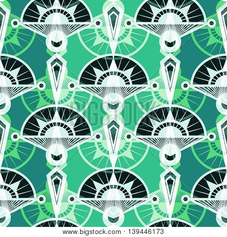 Seamless antique pattern ornament. Geometric art deco stylish background repeating texture