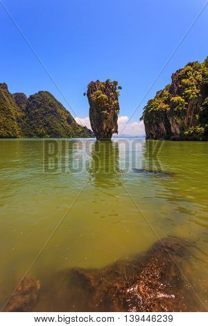 James Bond's island in the form of a vase. Freakish islands in the Andaman Sea. Fine rest in Thailand