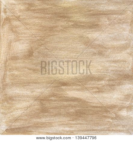 Gold paper with watercolor stains. Golden background