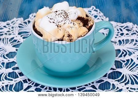Coffee with Whipped Cream Caramel Studio Photo