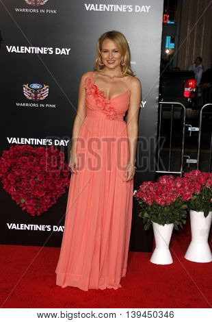 Jewel at the Los Angeles premiere of 'Valentine's Day' held at the Grauman's Chinese Theater in Hollywood, USA on February 8, 2010.