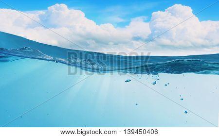 Underwater nature background .  Mixed media