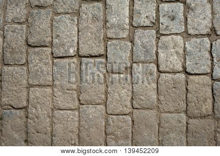 texture of old paved road, good for background