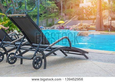Sunbed Near Swimming Pool