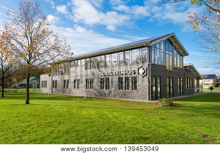 OLDENZAAL, NETHERLANDS - NOVEMBER 22, 2015: Exterior of an animal hospital in the netherlands