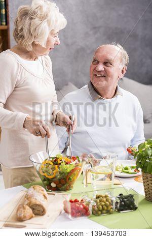 Healthy Salad On A Dinner