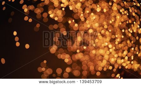 fire sparks in fireplace bokeh photo, blurred background